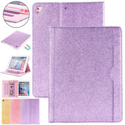 With Pen Holder Case For Ipad 9.7 2018 Air 1 2 Mini34 Smart Glitter Leather Case