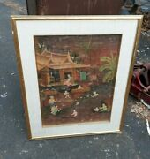 Old Or Antique Asian Balinese Bali Painting