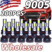 200pcs/100pairs 9005 9145 9140 H10 Hb3 Mini Led Headlight Bulbs Low Beam 6000k