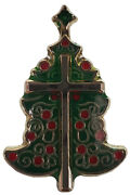 Wholesale Pack Of 50 Christmas Tree With Cross Motorcycle Hat Cap Lapel Pin