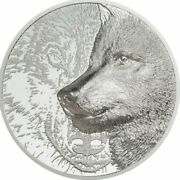 2021 Mongolian 2000 Togrog - Mystic Wolf 3oz 999 Silver Coin, Sold Out Series