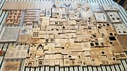 Huge Lot Stampin Up Stamps Approx 340 Wood Mount Rubber Stamps New And Used Mixed