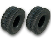 D096 2 Turf Tires 15x6x6 15x6-6 15-6.00-6.00 Lawn Mower Front Tires