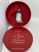 Waterford Crystal 12 Days Of Christmas Bell Ornament 7 Swans Swimming Edition