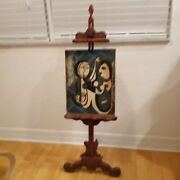 Hawaiian Tiki Witco Mid Century Modern Carved Wood 5 Ft Artist Easel Eames Era