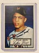 Willie Mays Superb Autograph On Card - 1952 Topps Card Rp 261🔥