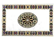 36 X 60 Inches Handmade Crafts Coffee Table Top White Marble Dining Table Top