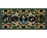 24 X 60 Inches Marble Guest Room Table Top With Cottage Art Patio Coffee Table