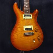 Paul Reed Smithprs Custom22 10top 1st Violin Amber Burst And0392005 Electric Guitar