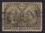 Canada 1897 5 Olive-green Sg140 Good Used