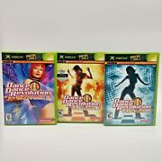 Dance Revolution Ddr Ultramix 2 3 4 Lot Xbox W/ Manuals And Cases Video Games