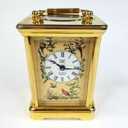 Halcyon Days Enamels The Wallace Collection Brass Miniature Carriage Clock Birds