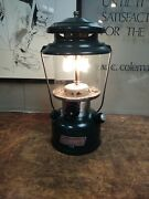 Vintage 1995 Coleman Lantern 288 Double Mantle Dated 4/95 With Globe