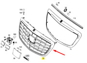 Mercedes-benz S W222 Front Radiator Grille A22288012029040 New Genuine