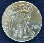 2012 Us Silver Eagle Bu - High Ms - Direct From Orig. Mint Roll Tube To Capsule