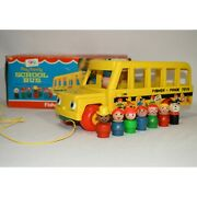 Vintage Fisher Price Little People School Bus 192 Set Complete With Box 0521