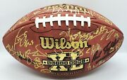 Seattle Seahawks Super Bowl Xl 40 Full Team Signed Autographed Game Football Cfs