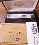 Case Xx Usa Mother Of Pearl Trapper 2003 7 Dot 8254 Ss Pocket Knife With Box