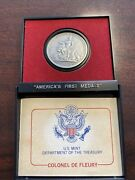 Colonel De Fleury Us Mint Americas First Medals Pewter