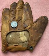 Rare 1880and039s Workmen Webless Crescent Pad Baseball Glove