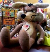 Looney Tunes Wile E. Coyote Plush Toy Warner Bros Mighty Star 1971 Vintage