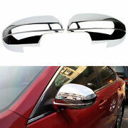Chrome Side Rearview Door Wing Mirrors Cover Trim For Mazda 3 2010 2011 2012