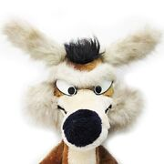 Looney Tunes Wile E. Coyote Plush Toy Warner Bros Size 75cm 1980and039s Vintage