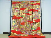 Japanese Kimono Finest Product Genuine From Japan Near Mint N-3002