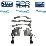 Corsa 304 Ss Cat-back Exhaust System With Split Rear Exit For Ats 13-19 14888blk