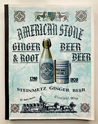 American Stone Ginger And Root Beer Stoneware Bottles 1790-1920. Signed Book