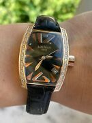 Rose Gold 18k Solid And Diamonds Watch Locman Panorama Ref.153 Lady Made In Italy