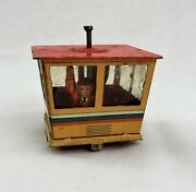 Vintage Tin Toy Part Lithograph Building Crows Nest Spinning People