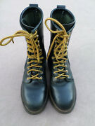 Red Wing 2218 Black Leather Steel Toe Smokejumper Boots Menandrsquos 6 D Made In Usa