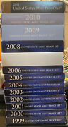 1999 - 2011 Us Proof Set Collection Lot 13 Boxes All Complete Coin United States