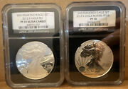 2012s 2pc San Francisco American Silver Eagle Set Ngc Pf70 Reverse Proof And Proof