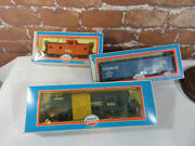 Vtg Model Power Conrail 8416 Engine Boxcar And Cabooseho Trains Detailed C Notes