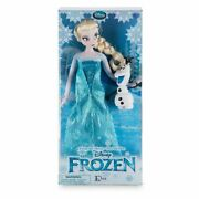 Disney Store Frozen 12'' Inches Elsa Classic Doll With Olaf 2016