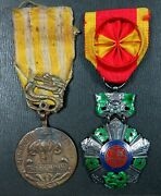 Vietnam National Order And Commemorative Medal Of Indochina Campaign Pair Original