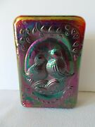 Fenton Art Glass Love Birds Paperweight Ruby Red Carnival 1976
