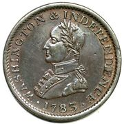 1783 Large Military Bust Washington Colonial Copper Coin