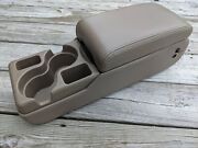 1997-2005 Buick Century Center Console Tan Beige Leather With Cup Holders Oem