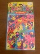 Vintage 1990s Lisa Frank Easter Stickers 4 Sheets Brand New Sealed