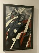 Thor Variant Glow In The Dark By Martin Ansin Framed Museum Glass Mondo Poster