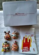 Mcdonalds Collectibles Club 1996 Merry Mcnugget Christmas 4 Ornaments Nugget Set