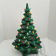 Vtg 18 Holland Mold Green Ceramic Christmas Tree Flame Tip Bulbs 2 Pieces Works