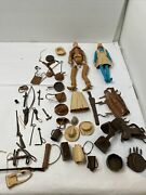 Vintage Jane West And Johnny West Marx Movable Cowgirl W/accessories And Box