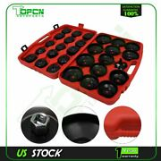 30x Black 29pcs Oil Filter Cap Wrench Adaptor And 1x Filter Claw Wrench