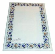 30 X 48 Inches Marble Dining Table Top Stone Coffee Table Inlay Art At Border