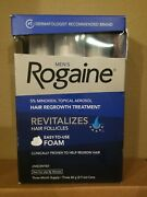 Rogaine Mens Regrowth Foam 5 Unscented 3 Month Supply Exp 2022+