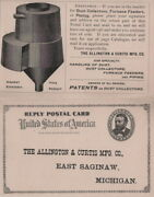1893 Allington And Curtis Mfg Co Dust Collectors Piping East Saginaw Michigan